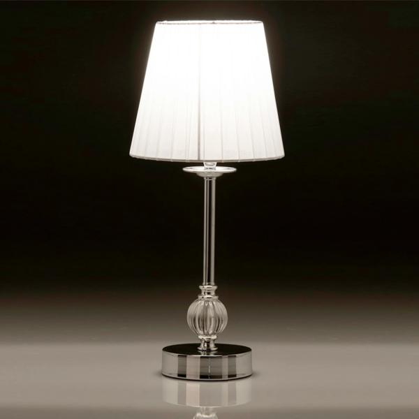 Lámpara Sobremesa Plateada 17 x 39 cm