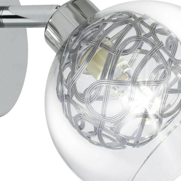 Aplique Silver 1 Luz Cromado