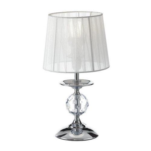 Lámpara Sobremesa Metal Cristal 17,50 x 17,50 x 34 cm