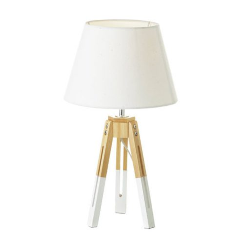 Lámpara Sobremesa Blanco Madera 25 x 25 x 44.5 cm