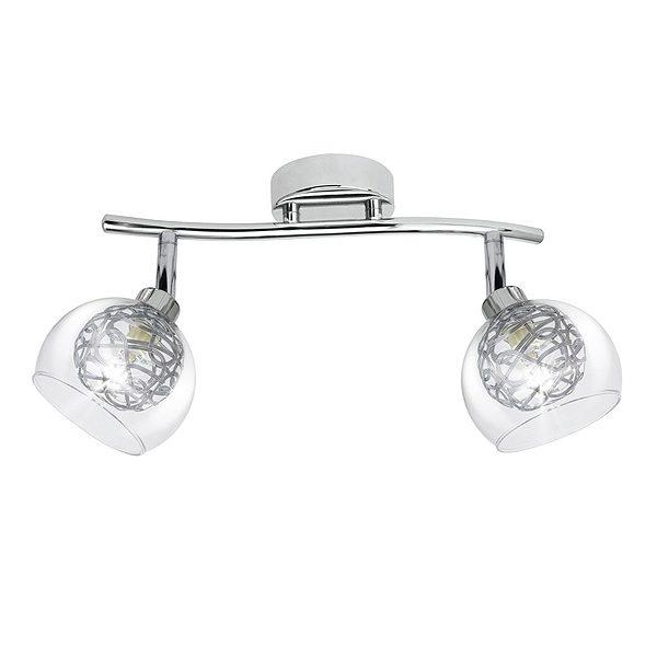 Lámpara –  Plafón Silver 2 Luces Cromado