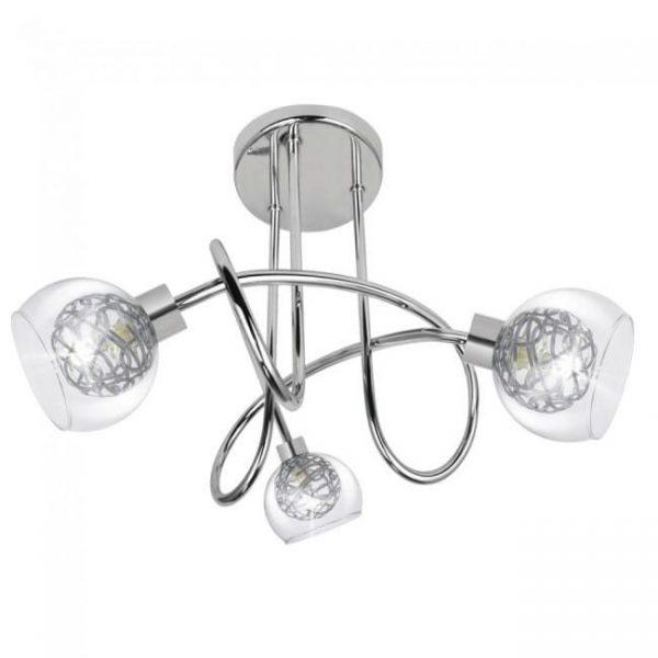 Lámpara – Plafón Silver 3 Luces Cromado