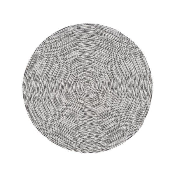 Alfombra Cuerda Blanco Gris 90 x 90 cm