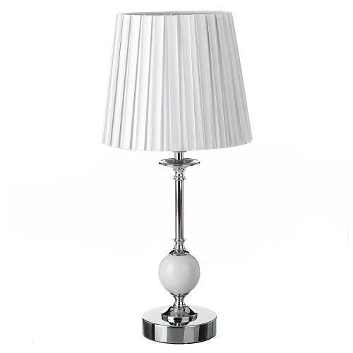 Lámpara Sobremesa Porcelana Metal Blanco 21 x 21 x 47 cm