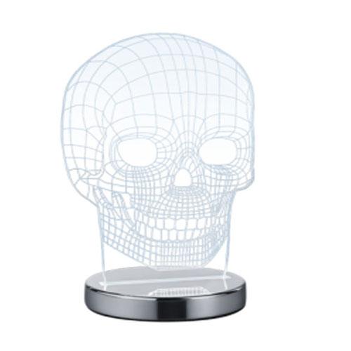 Lámpara Sobremesa 3D Led Calavera 14 x 21 x 12 cm