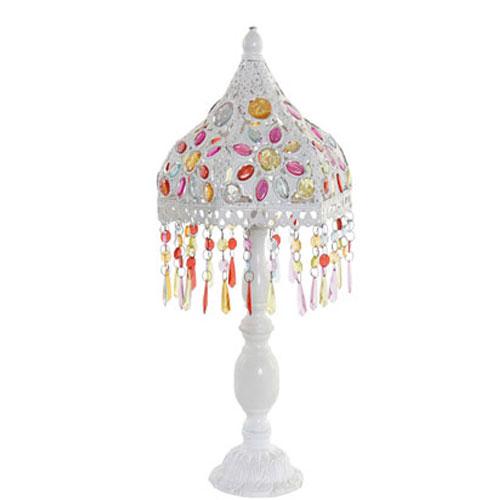 Lámpara Sobremesa Metal Colores 25 x 25 x 48 cm