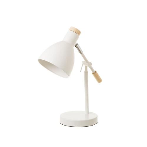 Lámpara Sobremesa Metal Madera Blanco 32 x 15 x 36 cm