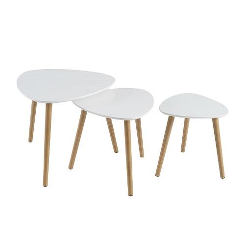 Set 3 Mesas Blanca 60 x 60 x 51 cm