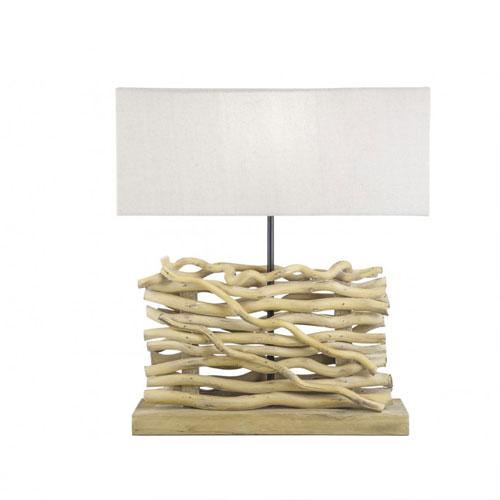 Lámpara Sobremesa Troncos Madera 40 x 15 x 51 cm