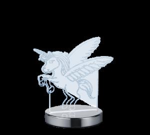 Lámpara Sobremesa 3D Led Unicornio 17 x 17 x 12 cm