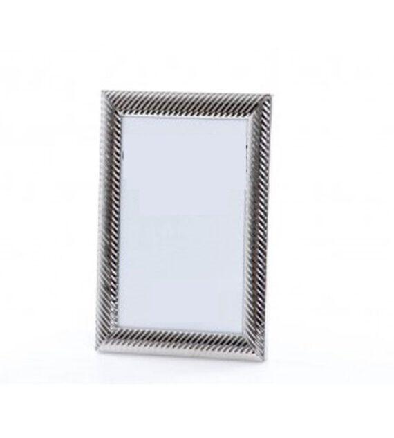 Portafoto Metal Lacado Plateado