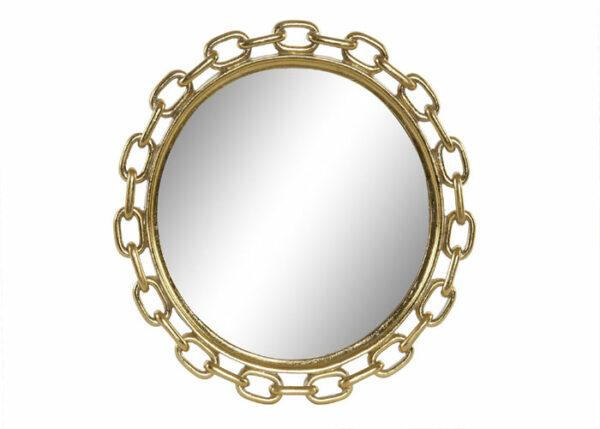 Espejo Cadena Dorado 34 x 34 cm