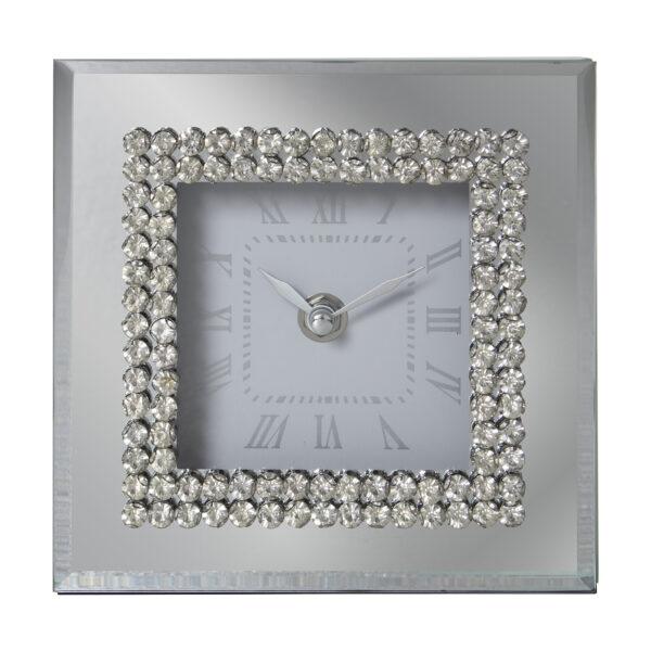 Reloj Espejo Brillante 15 x 15 x 5 cm