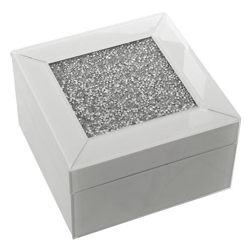 Caja Espejo Blanco Brillante 14 x 14 x 8 cm