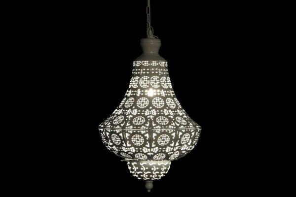 Lámpara Colgante Metal Blanco 34 x 34 x 108 cm