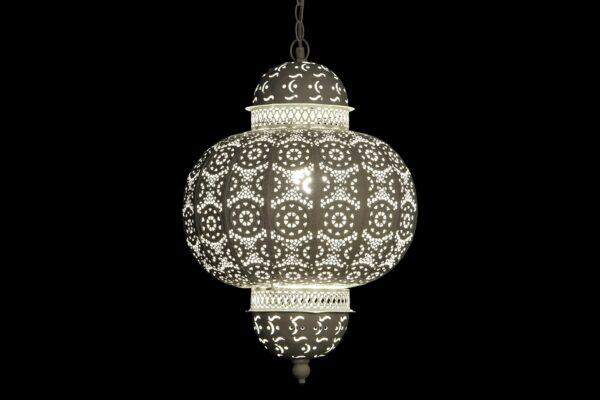 Lámpara Colgante Metal Blanco 35 x 35 x 98 cm