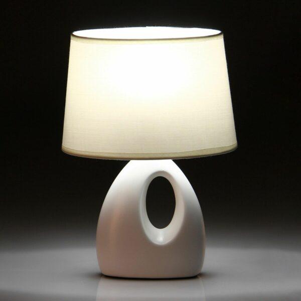 Lámpara Sobremesa Porcelana Blanco 20 x 12 x 33 cm