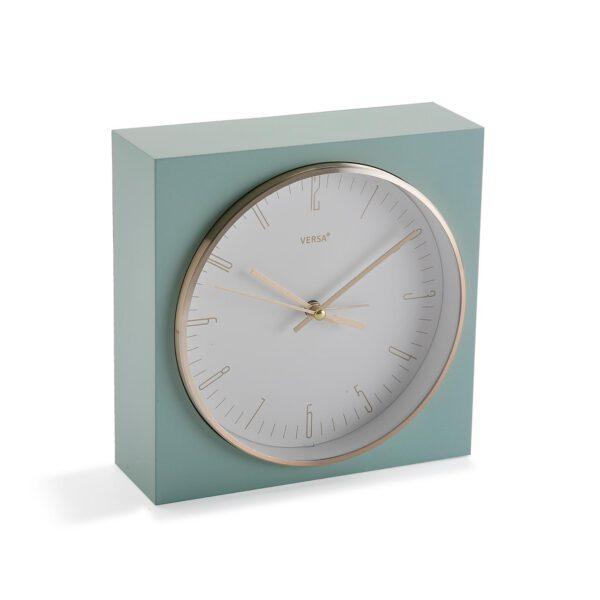 Reloj Cuadrado Aguamarina