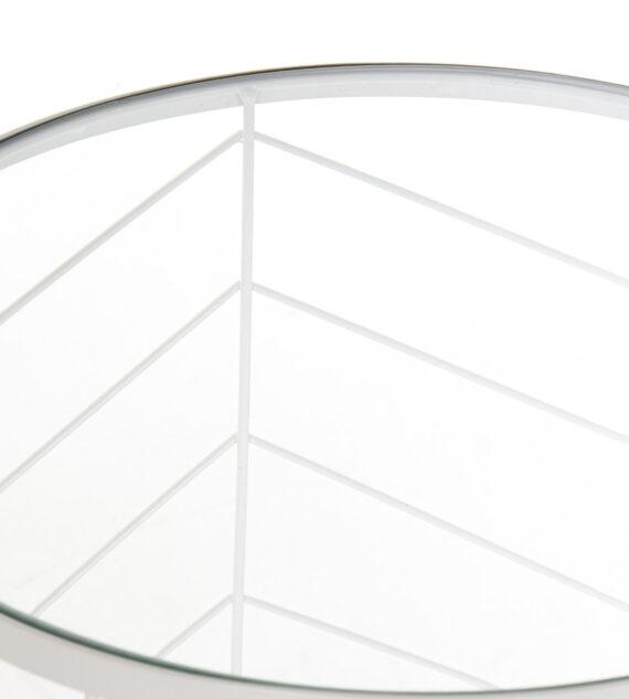Set 2 Mesas Metal Cristal