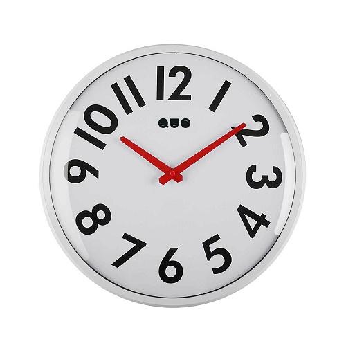 Reloj Pared Acrílico Blanco 33 cm