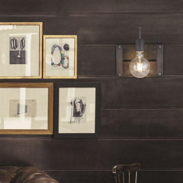 Aplique Ester Metal Madera 22 x 13 x 23 cm