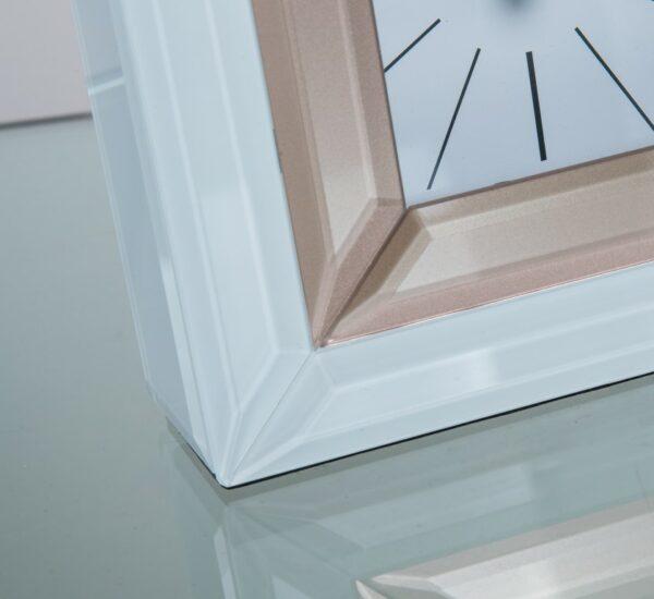 Reloj Cristal Blanco Dorado 15 x 5 x 15 cm
