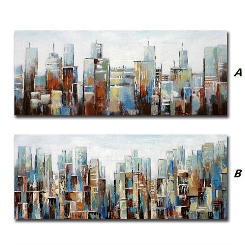 Cuadro Lienzo Edificios 140 x 60 cm