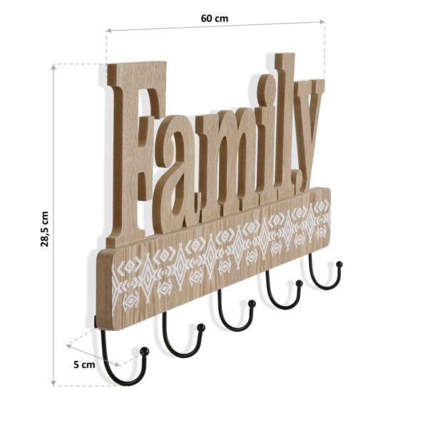 Perchero Madera Family 60 x 28,5 cm