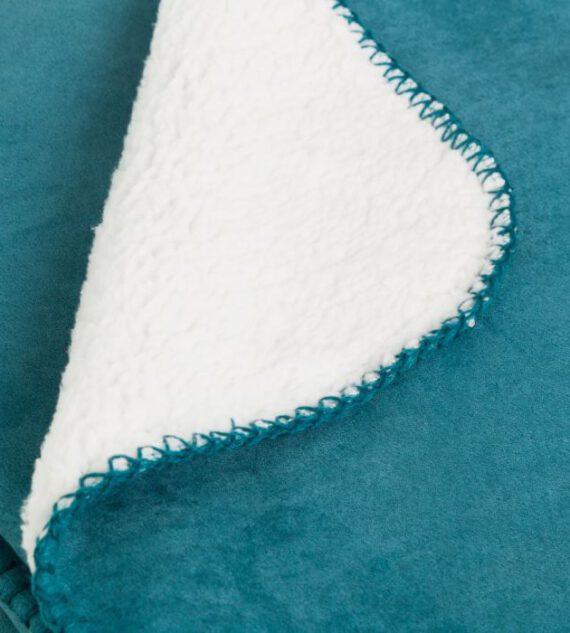 Manta Antelina Azul 125 x 150 cm