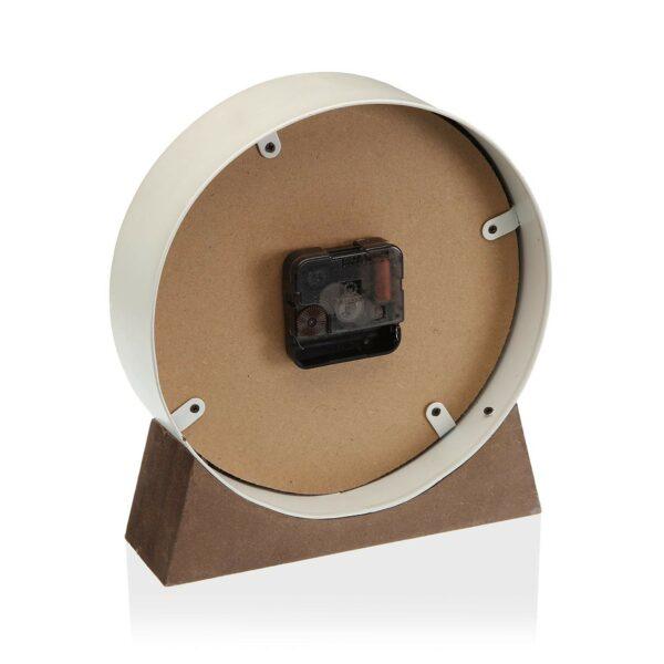 Reloj Sobremesa Metal Blanco 20 cm