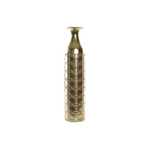 Jarrón Metal Dorado 15 x 15 x 67 cm