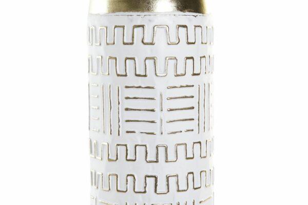 Jarrón Metal Blanco 15 x 15 x 55 cm