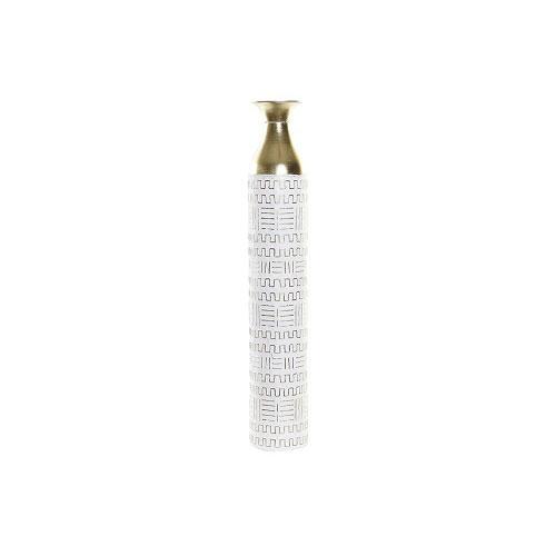 Jarrón Metal Blanco 15 x 15 x 85 cm