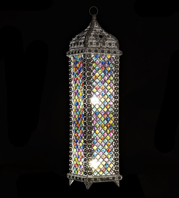 Lámpara Metal Arabe 23 x 23 x 96 cm