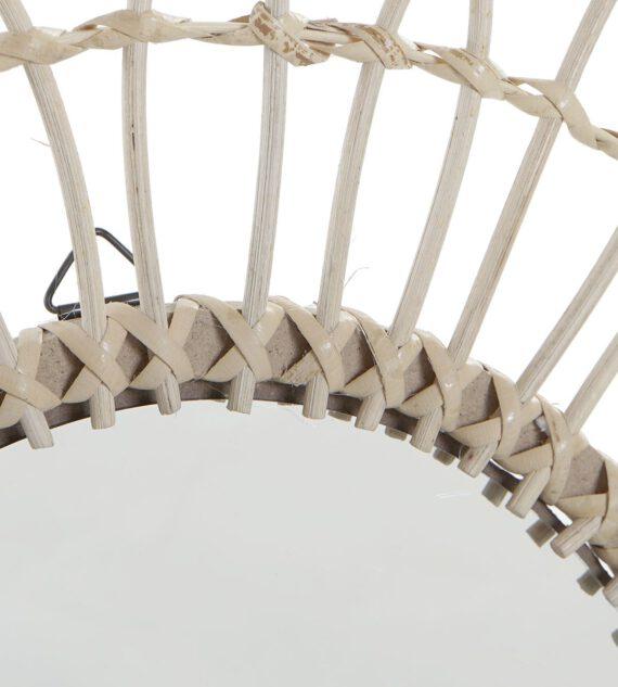Espejo Ratán Natural 16 x 46 cm