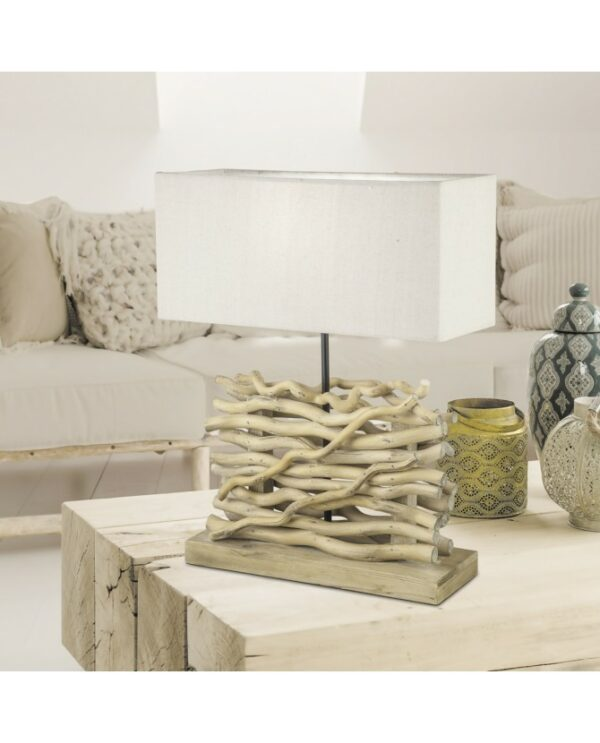 Lámpara Sobremesa Madera 40 x 15 x 51 cm