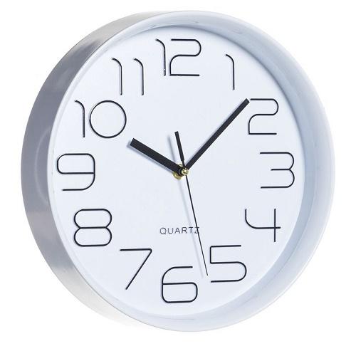 Reloj Pared Pvc Blanco 28 cm