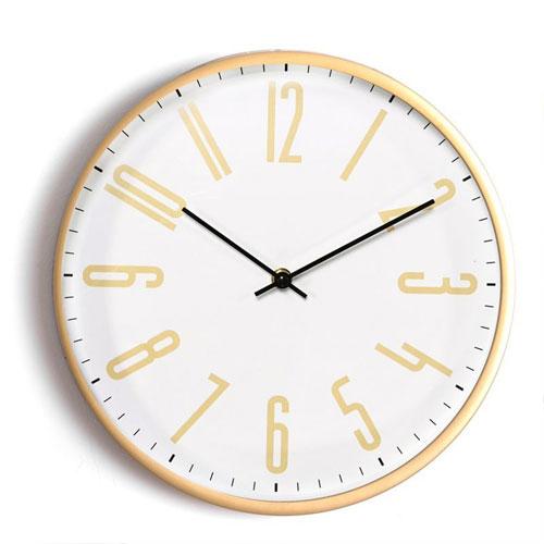 Reloj Pared Pvc Dorado 30 cm